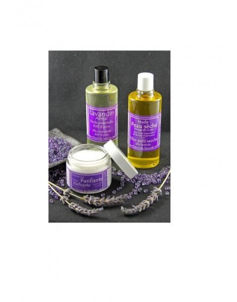 Huile peau sèche et autre produits à la lavande